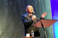 제 16 차 워싱턴 주 쥬빌리 통일구국(연합) 기도회에서 설교하는 임현수 목사