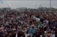 파키스탄에서 신성모독 혐의로 사형선고를 받았던 아시아 비비 석방에 항의하는 파키스탄 무슬림들이 거리를 점령하고 있다. ⓒYouTube/TRT World