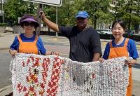미주다일공동체 밥퍼봉사 및 비닐매트 나눔