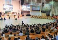 ▲얼마전 한교연이 오산리최자실기념금식기도원에서 개최했던 '한국교회 비상 특별기도회' 모습. ⓒ한교연