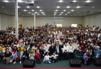 창립 4주년 기념예배 이후 단체사진