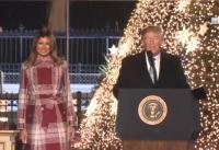 크리스마스 트리 점등식에 참석한 트럼프 대통령과 멜라니아 여사. ⓒ백악관 제공
