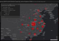 24일 오전 9시 30분경 존스홉킨스대 코로나19 국제 통계 지도. ⓒ존스홉킨스대 홈페이지 캡처