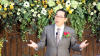 기쁜우리교회 창립 3주년 은퇴 및 임직예배에서 설교하는 진유철 목사