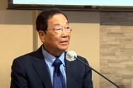뉴욕교협 특별고문 김남수 목사가 6.25 70주년 특별기도회에서 설교하고 있다.