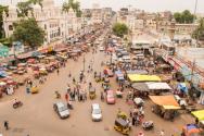 인도 남부의 한 시장의 모습.