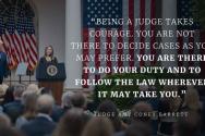 배럿 연방대법관이 연설하고 있다. ⓒ백악관