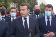 에마뉘엘 마크롱 대통령이 니스에서 발생한 테러 현장을 방문했다. © PSCP.TV 캡쳐