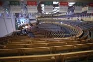 사랑의교회가 최근 비대면 예배를 드리던 모습. 예배당에는 필수 인력만 참석했다. ©사랑의교회