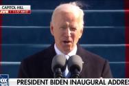 조 바이든 대통령이 취임 연설을 하고 있다. ⓒ폭스뉴스 보도화면 캡쳐