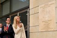 트럼프 전 대통령의 딸인 이방카 트럼프가 지난 2018년 5월 14일 예루살렘 주재 미 대사관 기념식을 진행하던 모습.