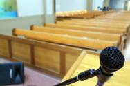▲한 교회 예배당 모습. ⓒ크리스천투데이 DB