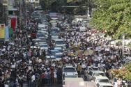 쿠데타를 반대하는 미얀마 시민들의 모습. ©SNS
