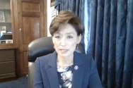 영 김 연방 하원의원이 톰 랜토스 인권위원회 청문회에서 한국의 대북전단금지법과 관련한 우려를 표명하고 있다.