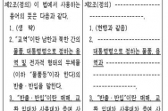 ▲통일부가 추진 중인 남북교류협력에 관한 법률 일부개정법률안(7583) 내용 일부. ⓒ지성호 의원 제공