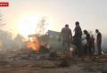 인도에서 코로나로 사망한 시신을 화장하고 있다. ©스카이 뉴스 캡쳐