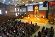 개교 120주년 감사예배가 진행되고 있는 모습. ©노형구 기자