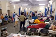 코로나19로 환자가 속출하고 있는 인도 한 병원 모습. ⓒ월드비전