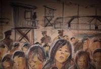 북한 정치범수용소 내부를 그린 그림