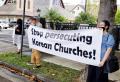 하와이 UMC한인교회 성도들이 가주태평양연회 하기야 감독에게 한인 교회에 대한 핍박을 중단할 것을 요청하고 있다