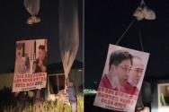 자유북한운동연합(대표 박상학)이 북한으로 대북전단을 날리는 모습. ⓒ자유북한운동연합