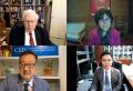 CSIS의 북한 인권문제 온라인 간담회에 참석한 지성호 의원(오른쪽 아래) ©지성호 의원실