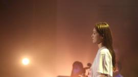 지난 21일 밤 청년다니엘기도회 무대에 오른 배우 이성경 씨.