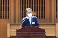 장신대 개교 120주년 기념 목회자 세미나에서 리종빈 목사가 설교를 하고 있다.