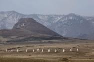 북한 혜산 인근 벌판.