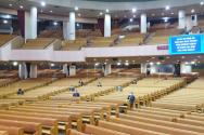 여의도순복음교회가 과거 비대면 예배를 드리던 모습 ©여의도순복음교회