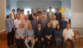 뉴욕장로연합회가 팬데믹 이후 16개월 만에 연 조찬기도회에서 회원들이 기념촬영을 했다.