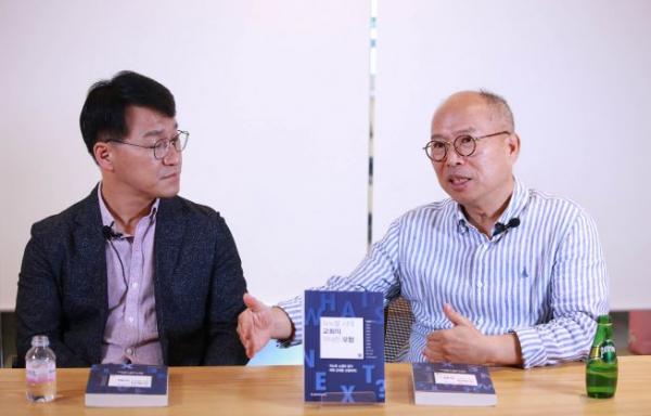 이달 초 분당 만나교회에서 만난 김병삼 목사와 이상훈 교수. 이 교수는 다시 미국으로 출국했다. ⓒ송경호 기자