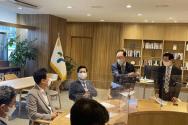 서울 지역 목회자들이 오 시장과 면담하고 있다. ⓒ김봉준 목사 제공