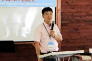 제2회 글로벌 복음 통일 전문 선교대회에서 강의하는 윤학렬 감독