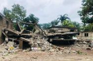 굿네이버스 아이티 현지 직원이 촬영한 지진으로 폐허가 된 아이티 현지 가옥