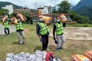 네팔 기독교연합회를 통해 전달된 구호 식량