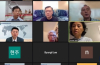 임현수 목사(맨 위 가운데) 등 기도회 참석자들이 온라인을 통해 기도회에 참여하고 있다. ©기도회 영상 캡쳐
