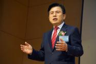 황교안 국민의힘 대선 예비후보가 9일 열린 대한민국사랑운동본부 기도회에 참석해 시국강연을 하고 있다. ©김진영 기자