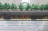 9/11 추모박물관 비석에 희생자들의 이름이 적혀 있다