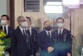 故 조용기 목사의 조문소에서 조문객들을 맞고 있는 이영훈 목사(맨 오른쪽) ©한교총
