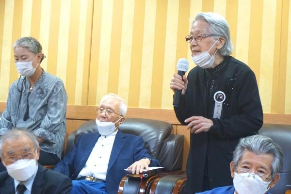 故 이장식 목사의 사모인 박동근 여사가 감사의 말을 전하고 있다.©노형구 기자