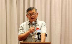복음 통일 간담회에서 메세지를 전하는 임현수 목사