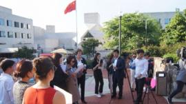 지난 2019년 미국 워싱턴에서 열렸던 제16회 북한자유주간의 마지막 날, 중국 대사관 앞에서 탈북자 강제북송 반대 시위가 진행되던 모습.