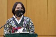 총회장에 선출된 김은경 목사. ⓒ유튜브