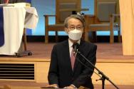 김운용 총장이 인준 투표 전 발언하고 있다. ⓒ유튜브