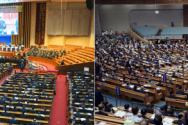 2019년 열린 예장 합동(왼쪽)과 통합 측의 제104회 정기총회 모습
