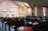 뉴욕효신장로교회에서 새벽예배를 드리고 있는 모습