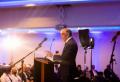 휴 오스굿 목사가 지난 10월 12일 스코틀랜드 글래스고에서 열린 빌리 그래함 전도협회(BGEA) 전도회의에 참석해 수백 명의 스코틀랜드 목회자와 전도자들에게 강연하고 있다. ©BGEA