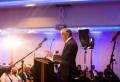 휴 오스굿 목사가 지난 10월 12일 스코틀랜드 글래스고에서 열린 빌리그래함전도협회(BGEA) 전도회의에 참석해 수백 명의 스코틀랜드 목회자와 전도자들에게 강연하고 있다. ⓒBGEA