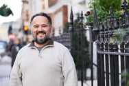 영국 거리 설교가 마이크 오버드 씨